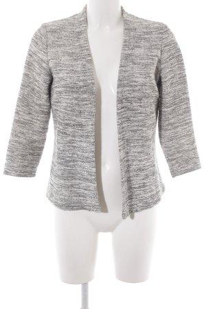 H&M Shirtjacke weiß-schwarz meliert schlichter Stil