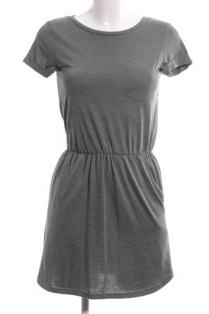 H&M Shirtkleid hellgrau meliert Casual-Look