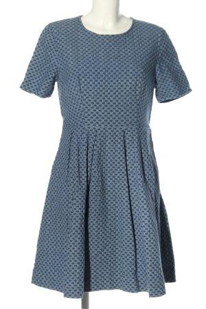 H&M Shirtkleid blau Allover-Druck Casual-Look