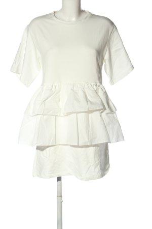 H&M Shirtkleid weiß Casual-Look