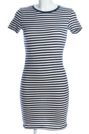 H&M Shirtkleid blau-weiß Streifenmuster Casual-Look