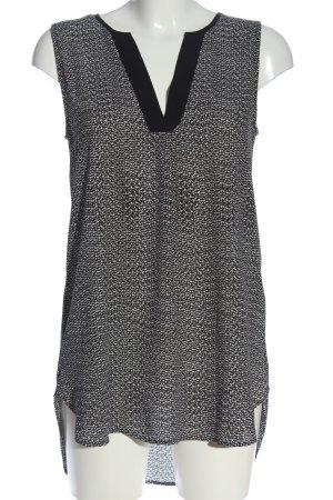 H&M Shirtkleid schwarz-weiß Allover-Druck Casual-Look