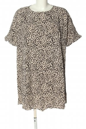 H&M Shirt Dress natural white-black allover print casual look