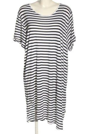H&M Shirtkleid weiß-schwarz Allover-Druck Casual-Look
