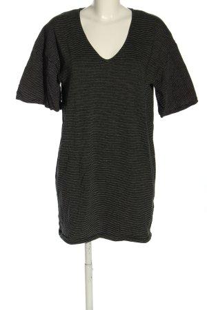 H&M Shirtkleid schwarz-wollweiß Streifenmuster Casual-Look