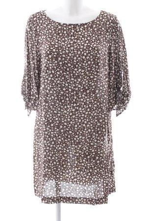 H&M Shirtkleid braun-weiß Allover-Druck Casual-Look