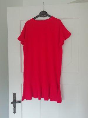H&M Shirtkleid Volants Kleid Rot