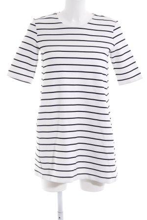 H&M Shirtkleid weiß-schwarz Casual-Look