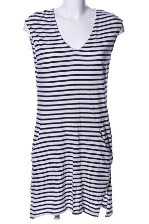 H&M Shirtkleid weiß-schwarz Streifenmuster Casual-Look