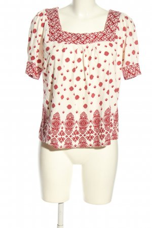 H&M Shirt Tunic natural white-red allover print casual look
