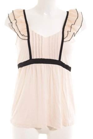 H&M Shirttunika rosé-schwarz Casual-Look