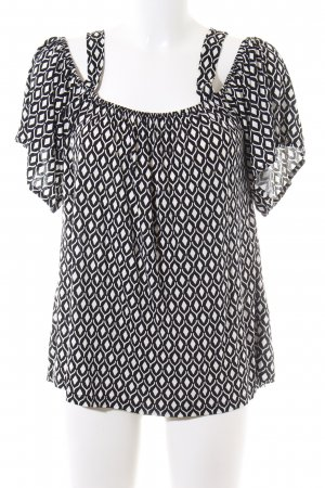 H&M Shirt Tunic white-black allover print casual look