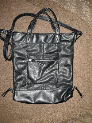 H&M Shopper Schultertasche schwarz groß