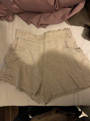 H&M Pantaloncino a vita alta crema-beige