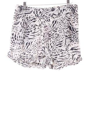 H&M Shorts altrosa-schwarz Animalmuster Casual-Look