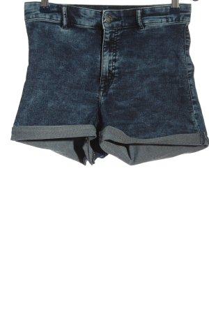 H&M Shorts blau meliert Casual-Look