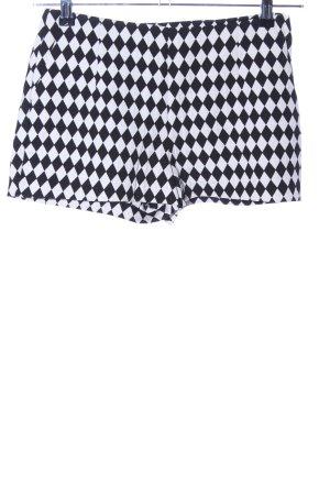 H&M Shorts nero-bianco stampa integrale stile casual