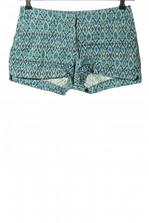 H&M Shorts türkis Allover-Druck Casual-Look