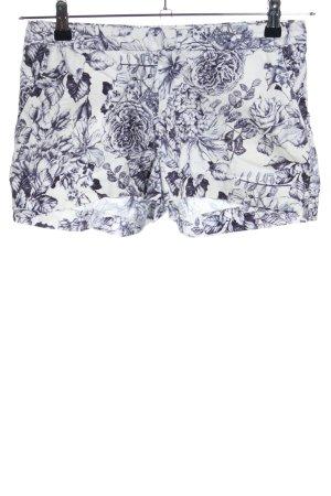 H&M Shorts weiß-hellgrau Allover-Druck Casual-Look
