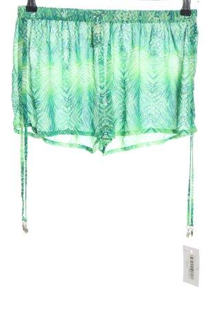 H&M Shorts grün abstraktes Muster Casual-Look