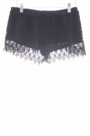 H&M Shorts schwarz florales Muster Beach-Look