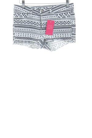 H&M Shorts weiß-schwarz abstraktes Muster