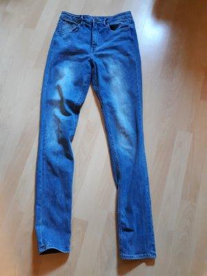 H&M Divided Hoge taille jeans leigrijs-lichtblauw Katoen