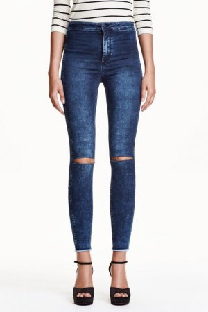 H&M Conscious Exclusive Hoge taille jeans blauw-donkerblauw