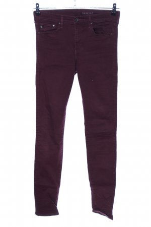 H&M Skinny Jeans lila Casual-Look