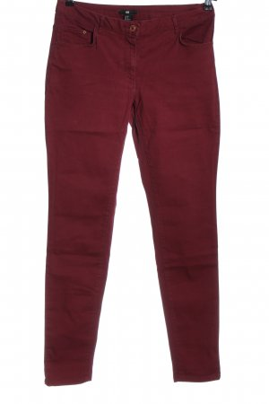 H&M Skinny Jeans rot Casual-Look
