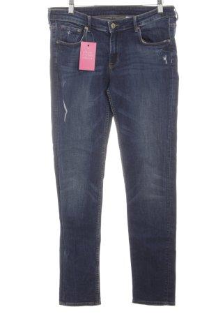 H&M Skinny Jeans blau Used-Optik
