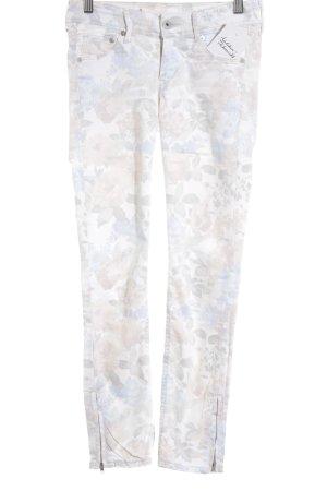 H&M Skinny Jeans Blumenmuster Casual-Look