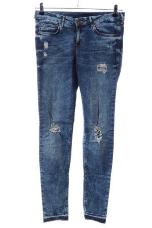 H&M Skinny Jeans blau Street-Fashion-Look