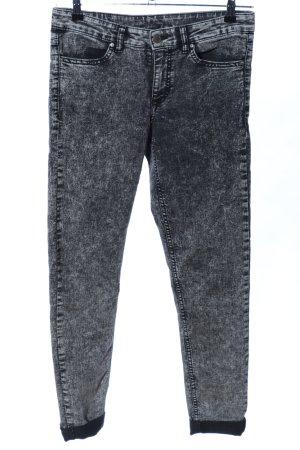 H&M Skinny Jeans hellgrau-schwarz meliert Casual-Look