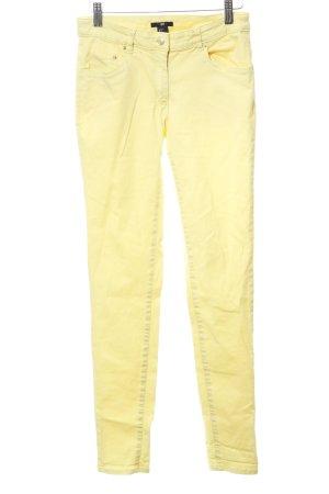 H&M Skinny Jeans blassgelb Casual-Look