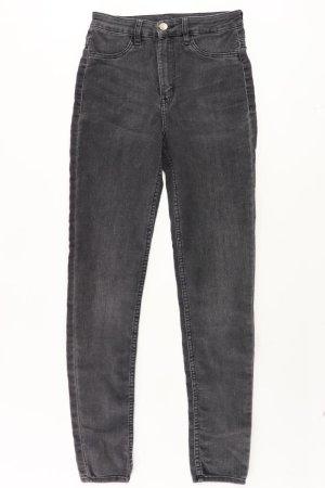 H&M Skinny Jeans Größe 34 grau aus Baumwolle