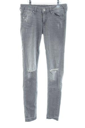 H&M Skinny Jeans hellgrau Casual-Look