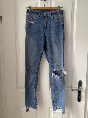 & DENIM Jeansy o obcisłym kroju błękitny-stalowy niebieski