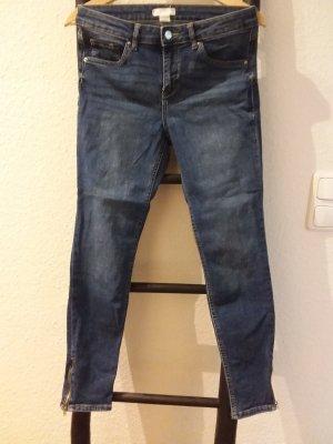 H&M Skinny Jeans mit Reißverschluss