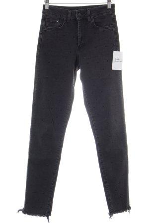 H&M Skinny Jeans schwarz meliert Street-Fashion-Look