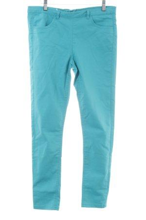 H&M Jeans skinny turquoise style décontracté