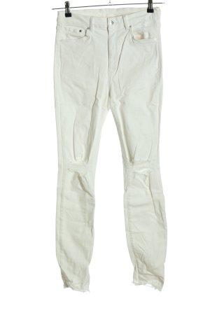 H&M Jeans skinny blanc style décontracté