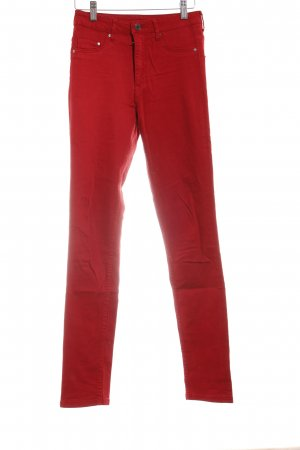 H&M Skinny Jeans ziegelrot Casual-Look