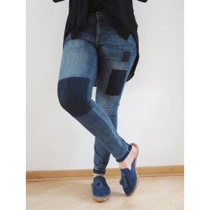 H&M Skinny Low waist ankle Jeans 31 Patchwork Style Slim Fit Denim 38 40 wie NEU