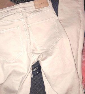 H&M Jeans cigarette blanc cassé