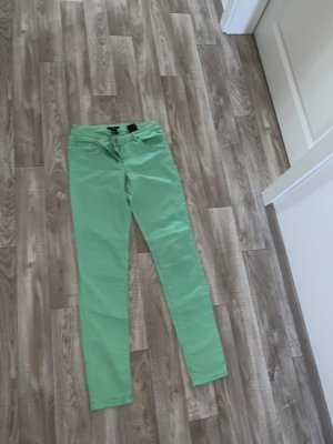 H&M Stretch Trousers mint-lime-green cotton