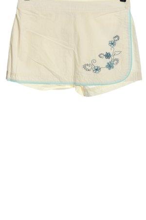 H&M Skorts creme-blau Blumenmuster Casual-Look