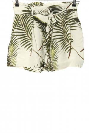 H&M Skorts green-natural white allover print casual look