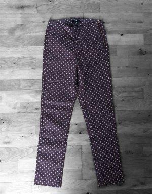 H&M Slacks Anzughose Braun Muster XS 33