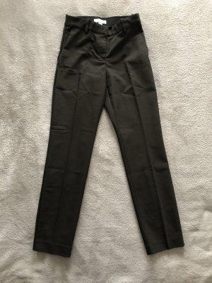 H&M Pantalon taille haute vert foncé